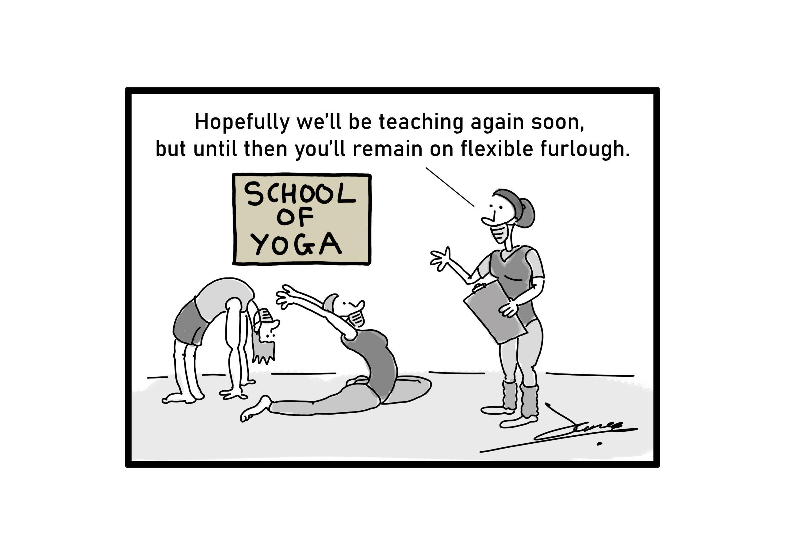 flexible furlough cartoon